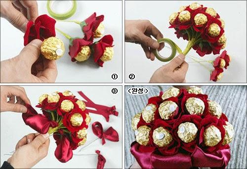 Как сделать букет цветов
