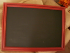 Red Shabby Chalkboard  *SOLD*
