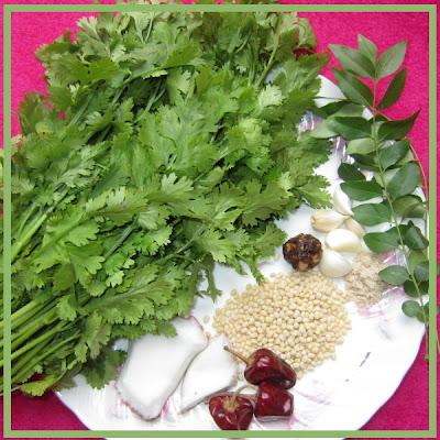 Coriander Thokku Ingredients