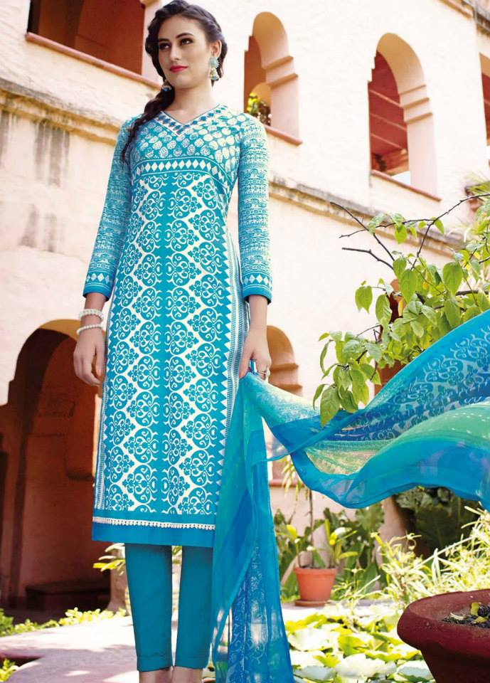 Indian Summer Suits 2015 By Jinaam Dresses | Designer Lawn Cotton ...