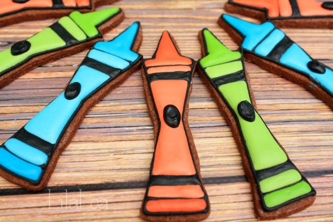 Back To School Crayon Cookies Tutorial