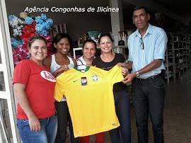 Camiseta autografada por Alemão ex Brasil