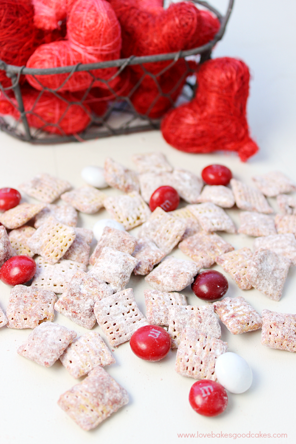 These Red Velvet Muddy Buddies are quick, easy and delicious! Your family will love the seasonal spin on a classic treat!