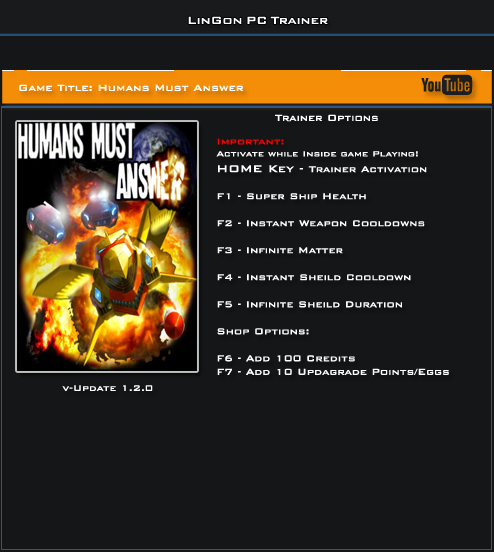 Humans Must Answer v1.2.0 Trainer +7 [LinGon]