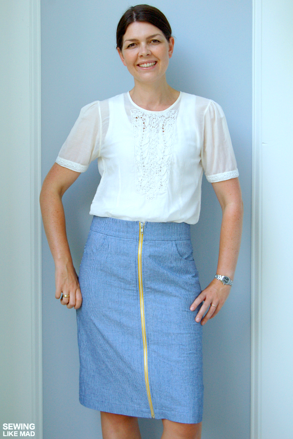 Sewing Like Mad: Pleated Pencil Skirt by Delia Creates - Pattern ...