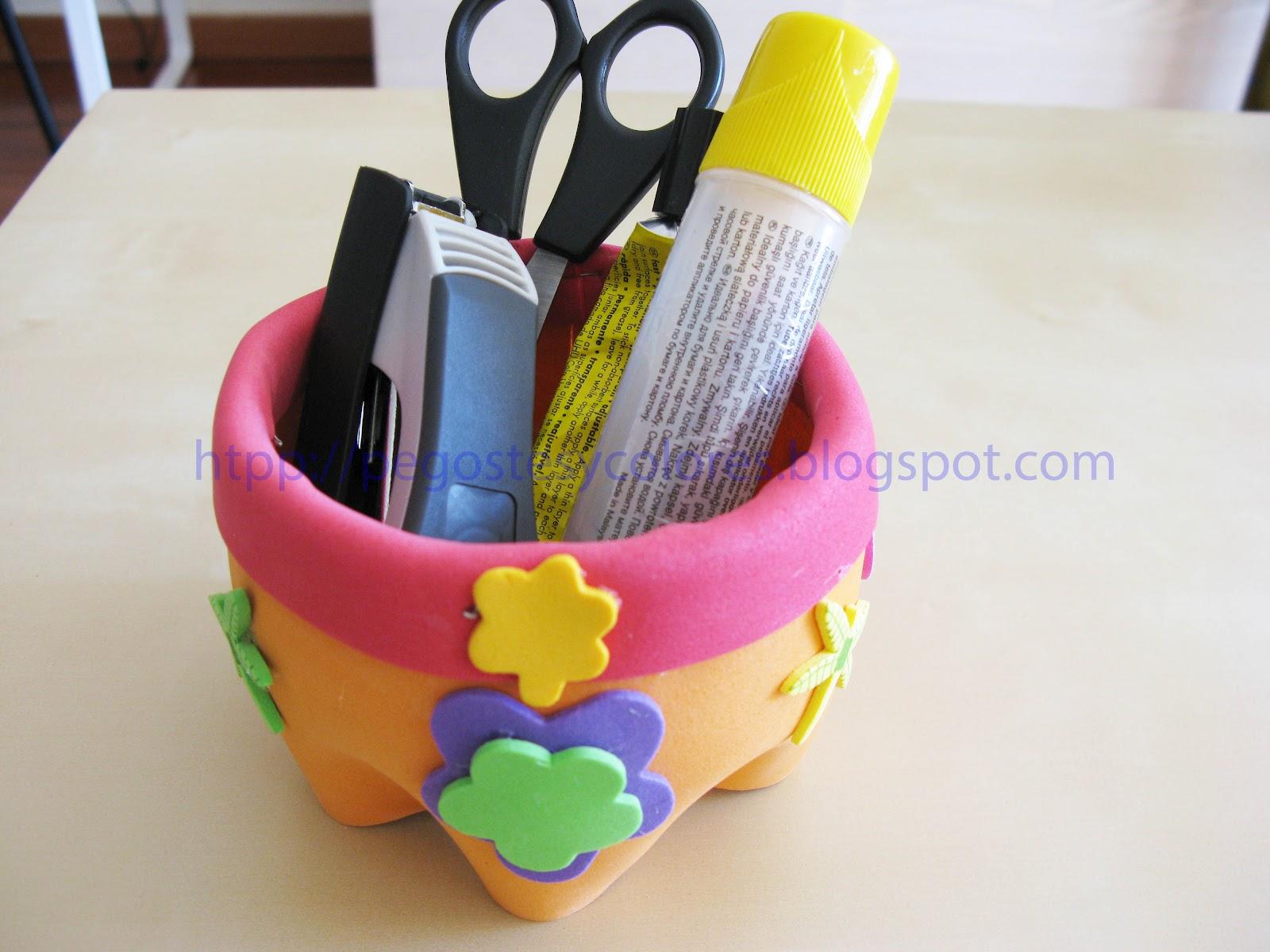 Pegostes y Colores: Porta Lápices con Foamy