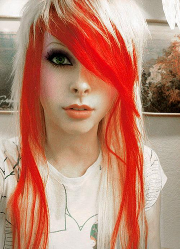 emo curly hairstyles. emo blonde hairstyles for