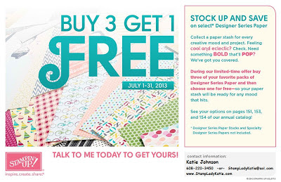Stampin'UP!'s July 2013 Designer Print Paper sale