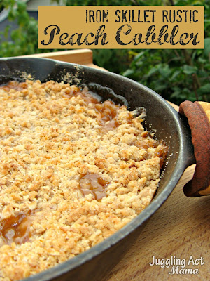 Peach crisp recipe in cast iron skillet