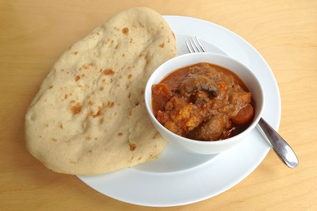 Curry and Vegan Naan Bread
