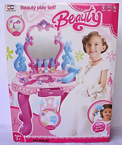 Kado ulang tahun berupa mainan meja hias untuk anak perempuan.