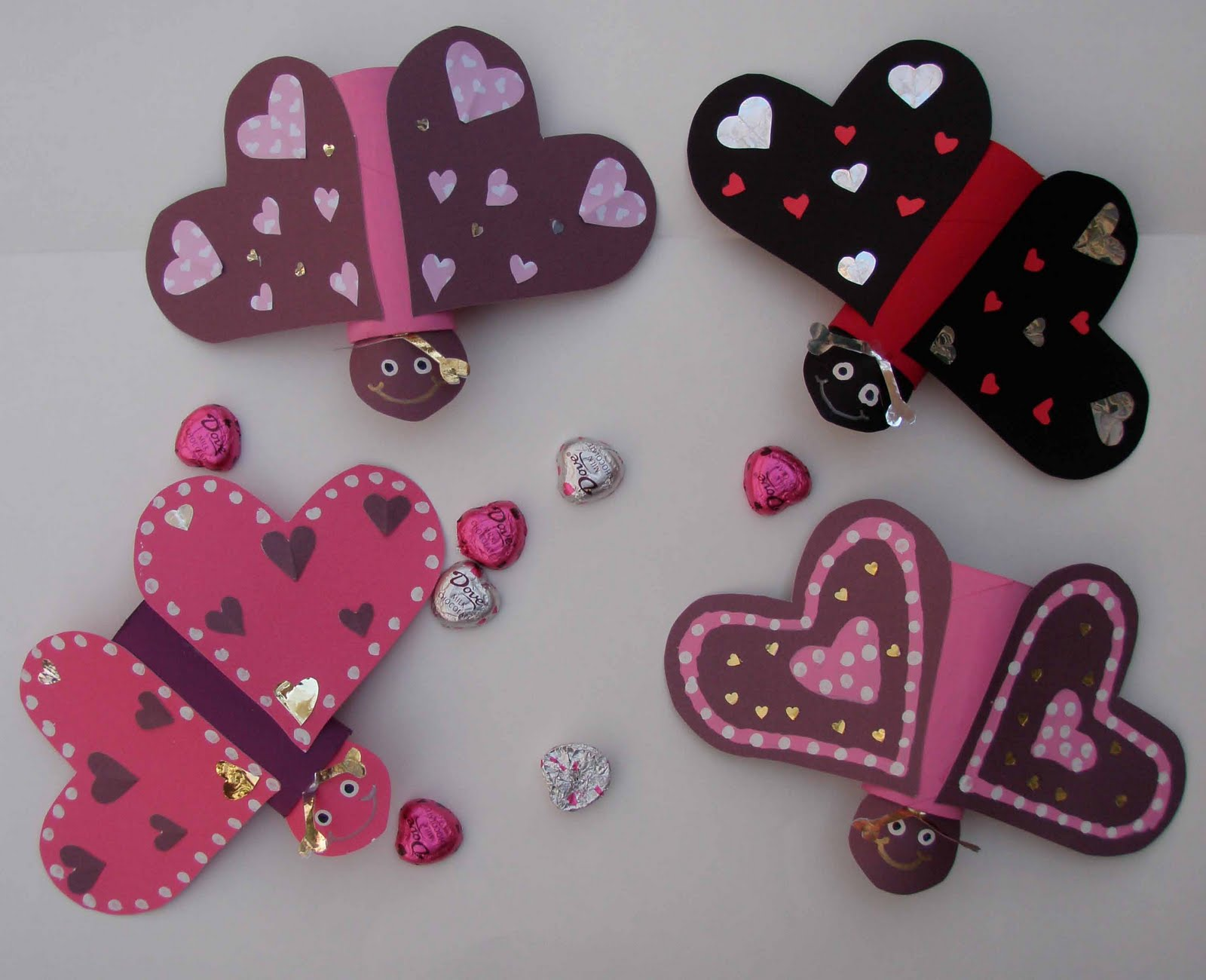 Valentine love bug craft - Craft Cute Love Bugs As Decorations For Your Valentine S Day Celebration All You Need Is A Paper Tube Toilet Paper Or Sections Of Paper Towel Tube