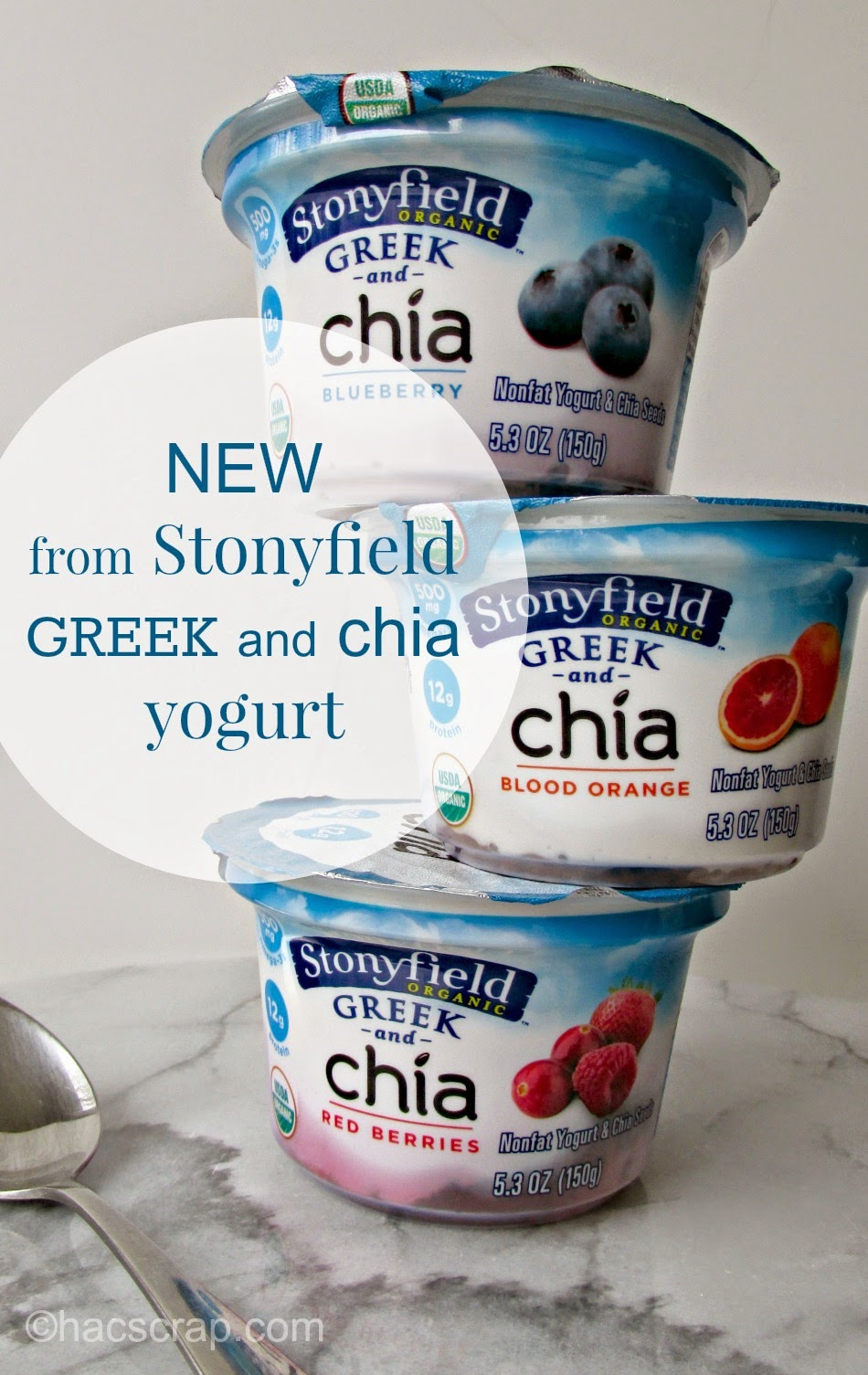 New Greek and Chia Yogurt from Stonyfield