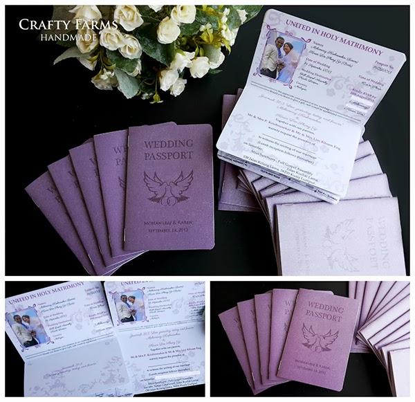 Passport Wedding invitation holy matrimony church klang