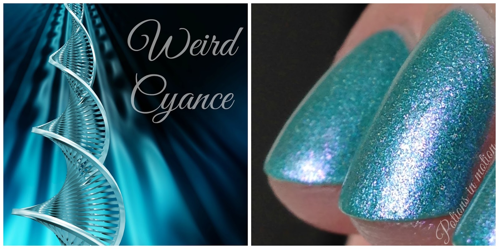 Potions in motion nail blog: Lilypad Lacquer Custom - Weird Cyance!