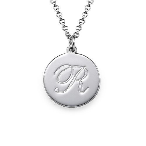 Script Initial Pendant Necklace