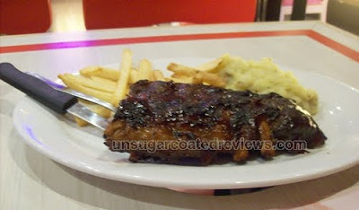 BBQ baby back ribs at Clawdaddy Eton Sentris Quezon City
