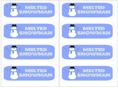 snowman label template bing images. Black Bedroom Furniture Sets. Home Design Ideas