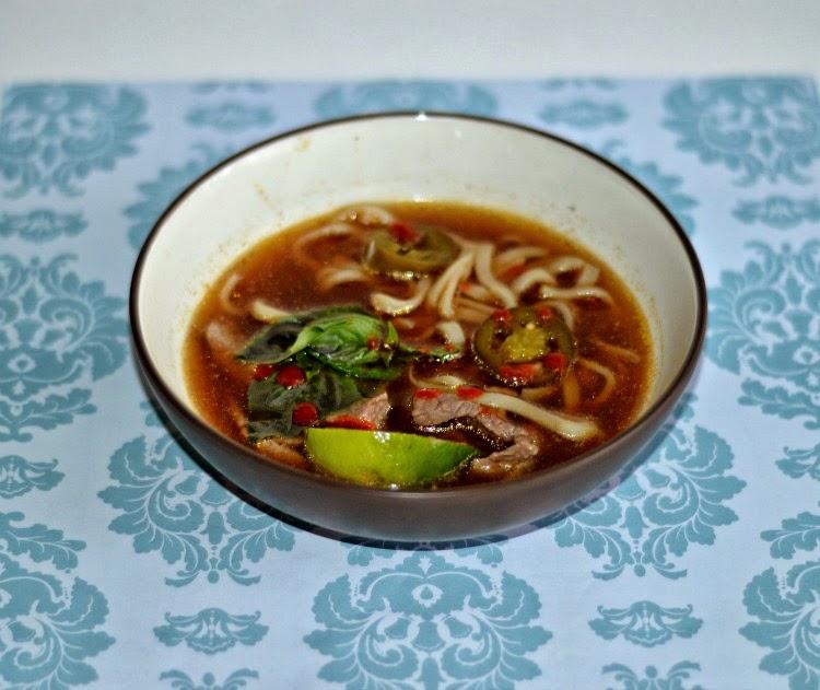 Thai Beef Noodle Soup has a delicious combination of Thai flavors.