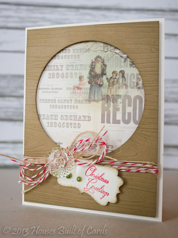 My Craft Spot: DT Post by Heather - Vintage Style Christmas Card!