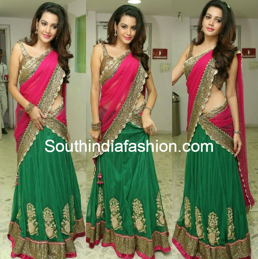 deeksha panth in half saree