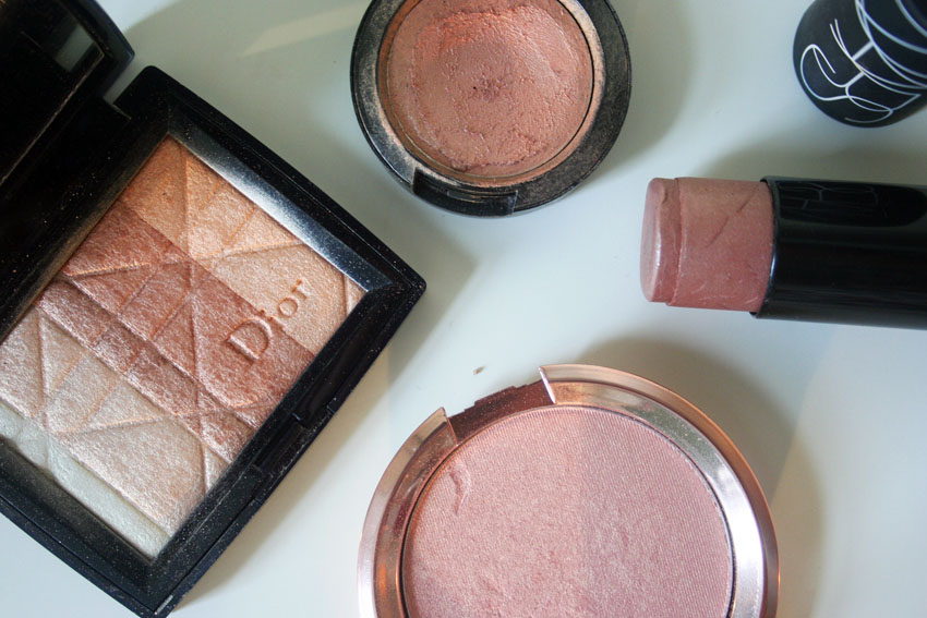 dior_mac_nars_amber_diamond_maldives_highlighter_rose_gold_swatch