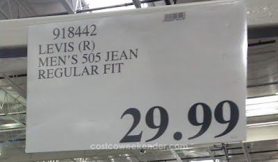 Deal for Levis Strauss Men's 505 Regular Fit Jeans at Costco
