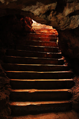 Escadaria da saída da gruta da Lapinha, em Lagoa Santa - Minas Gerais