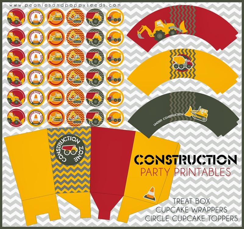 Construcción: Mini Kit para Imprimir Gratis.   Ideas y material gratis para fiestas y ...