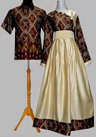 Contoh Gambar Baju Muslim Batik Brokat