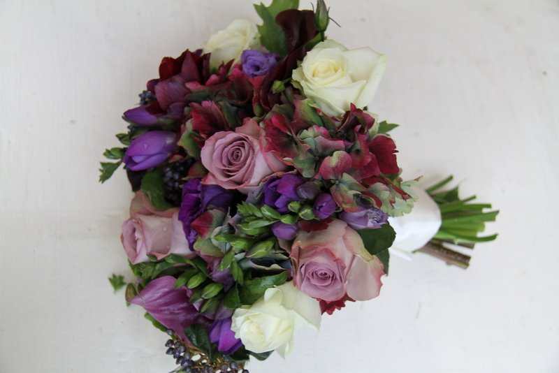 October Wedding Flowers Purple : The flower magician a sumptuous rich purple late autumn