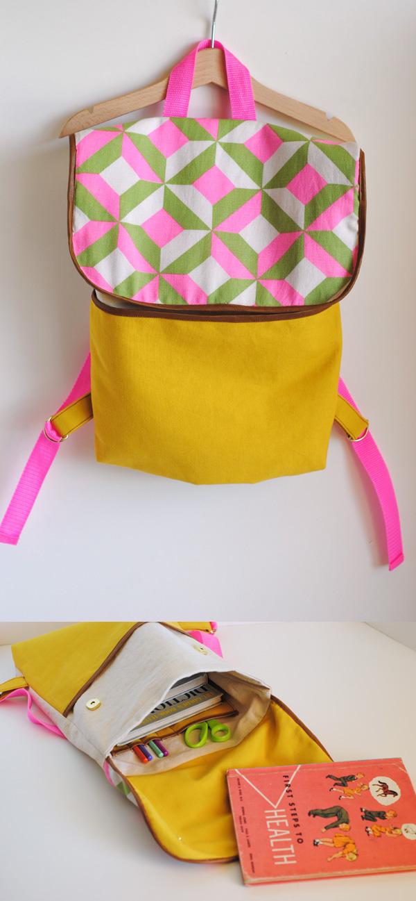 (back) to school Backpack Tutorial