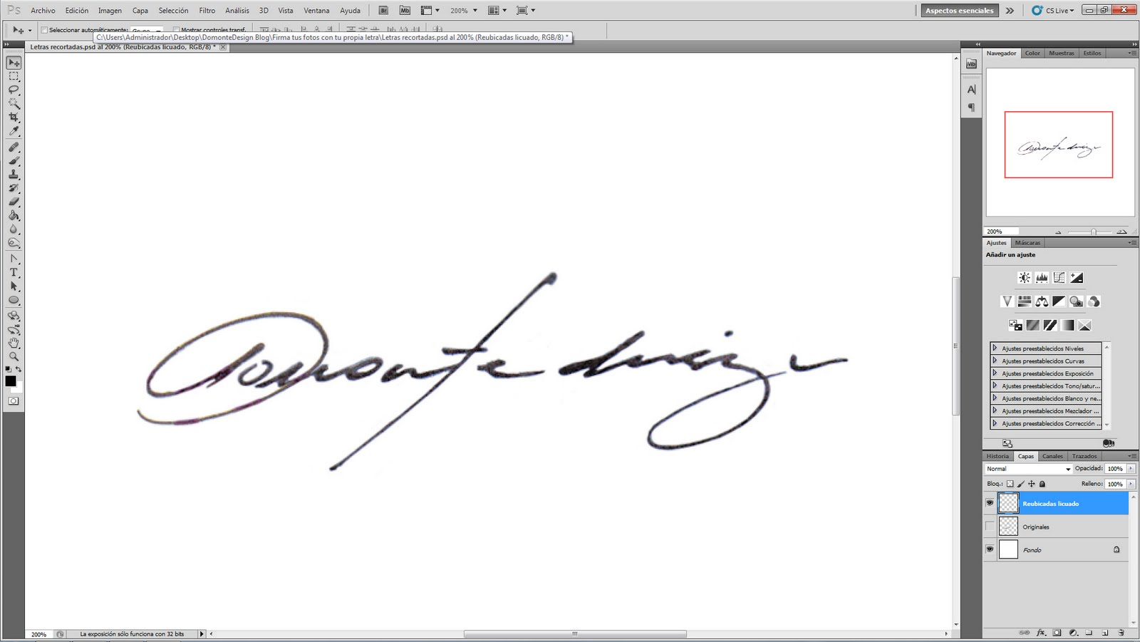 Domonte design firma tus fotos con tu propia letra for Design firma