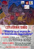 """Conversatorio: """"Minería en el marco de la dominación imperialista"""""""