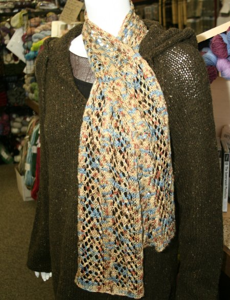 Arrowhead Lace and Cable Scarf Knitting Pattern at Jimmy Beans Wool