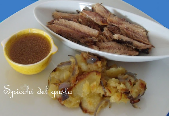 Sardine a vapore con vinaigrette all'aceto balsamico