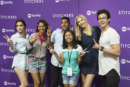 Stitchers cast at the D23 expo 2015 with fans