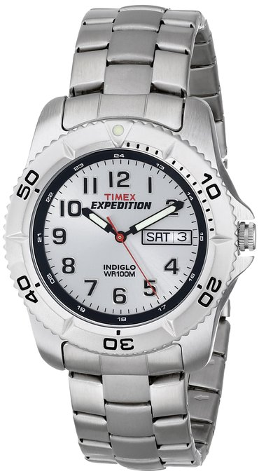 Timex Men's T466019J Expedition Traditional Analog Silver-Tone Bracelet Watch