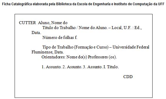 Geração Automática da Ficha Catalográfica