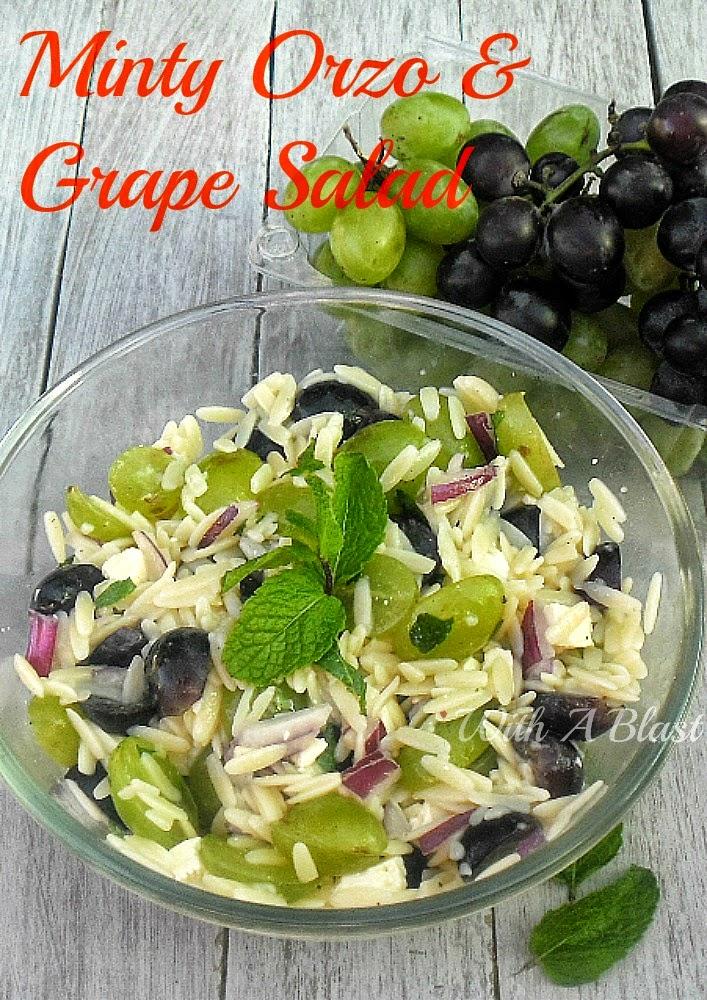 Refreshing Grape Mint Tomato Salad