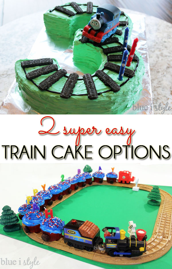 {entertaining with style} Two Super Easy Train Cake ...