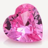 heart cut cubic zirconia stones pink