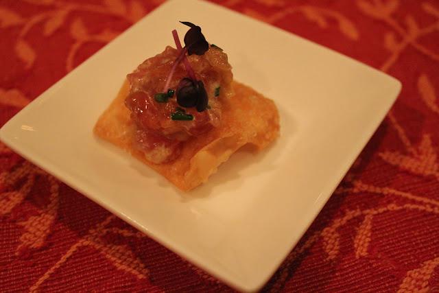 Tuna tartare at Meritage, Boston, Mass.