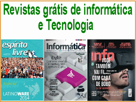 Revistas grátis de informática e tecnologia