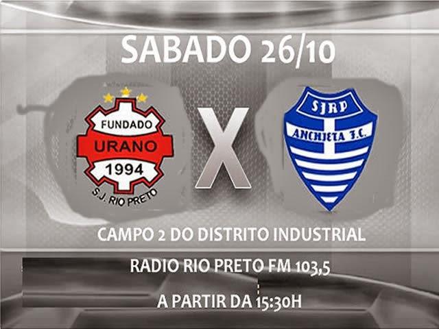 Urano e Anchieta/Texas terá transmissão pela Rádio Rio Preto FM 103, 5.