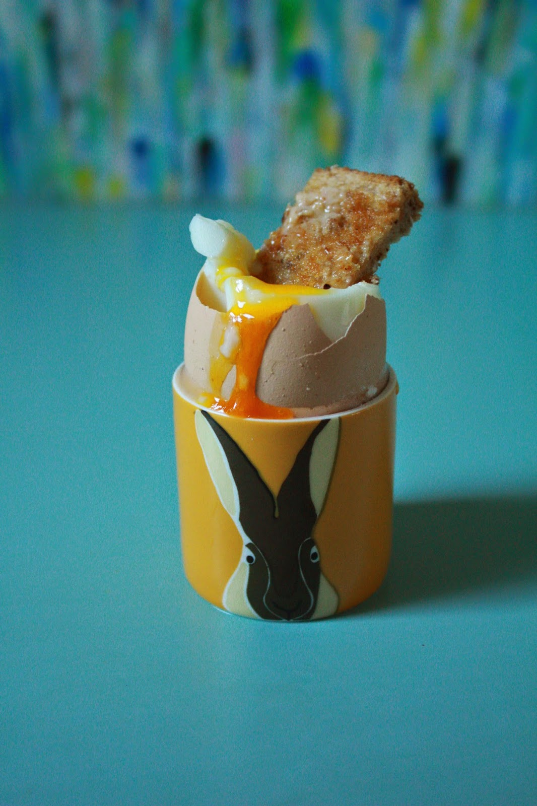 Boiled Egg and Soliders in a hare egg cup