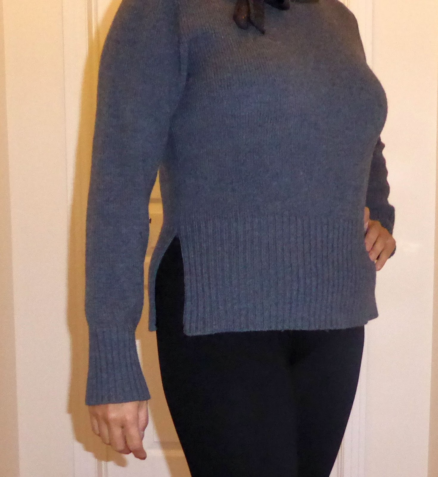 Refashion Co-op: Adding side slits to too tight sweaters