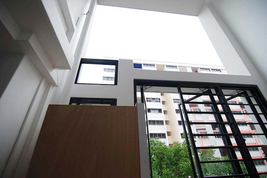 Butterpaperstudio reno t2 maisonette carpentry coming in for Hdb balcony design