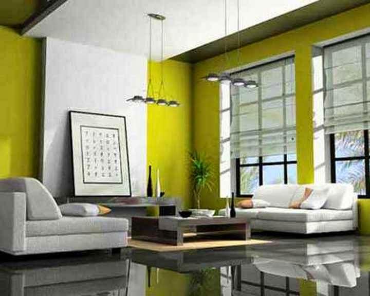 Rumah minimalis cat hijau