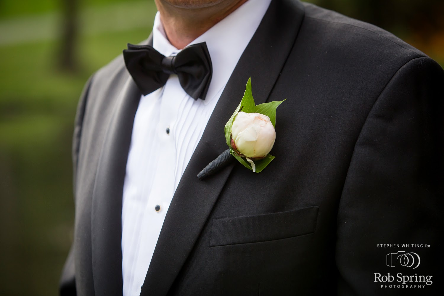 Tight Peony Bud Boutonniere - Boutonnieres - Wedding Flowers - Groom - Usher - Best Man - Groomsmen - Ushers - Groom's Boutonniere